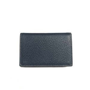 KP5112 Card Case Navy/Beige Kangaroo leather