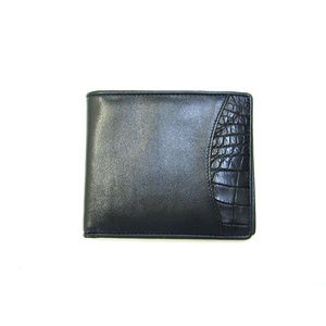 1003CP Mens Wallet Crocodile and Cow leather