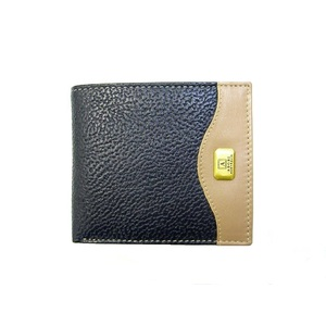 KP2074 Mens Wallet Navy/Beige Kangaroo leather
