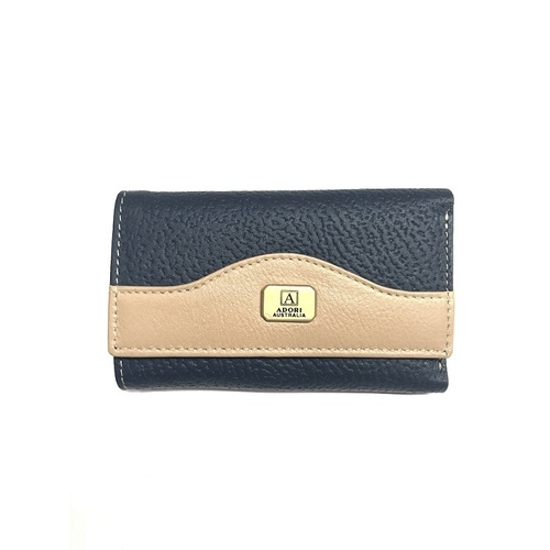 KP2076 Navy/Beige Kangaroo leather